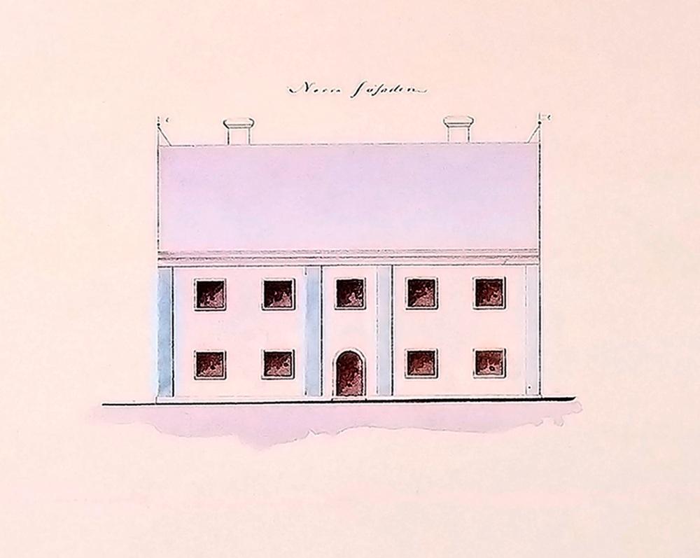 Länshäktet Gävle fasadritning 1732