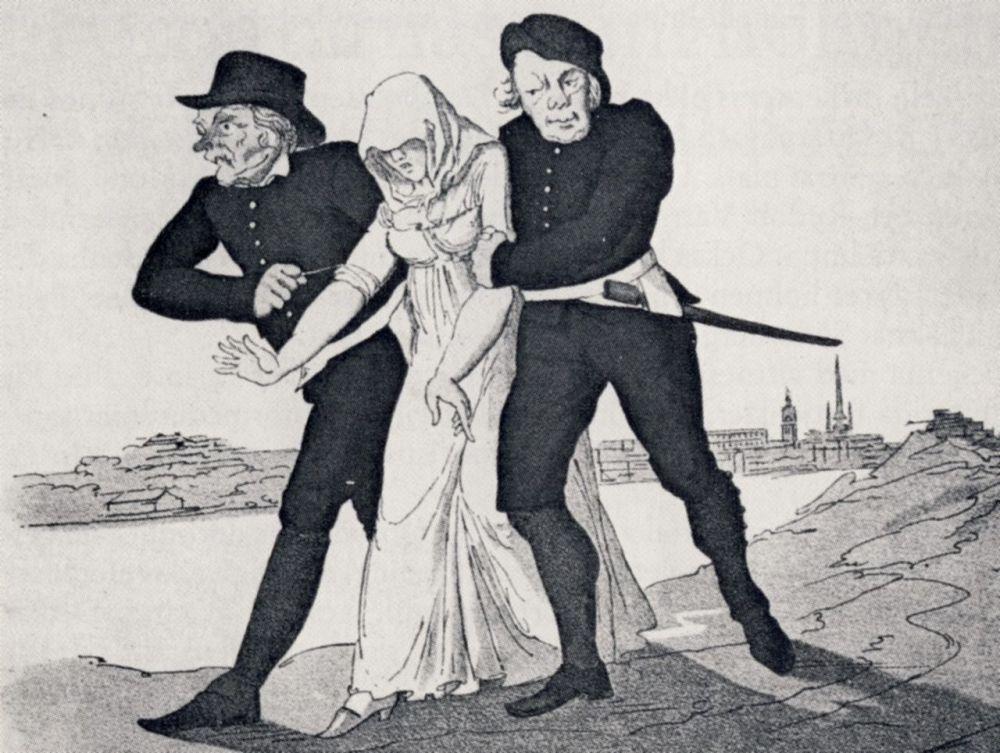 Spinnhusflicka och paltar Per Nordquist ca 1800